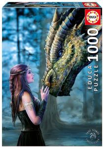 EDUCA Puzzle 1000 dílků - Anne Stokes  - Once Upon a Time  17099