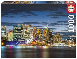 EDUCA Puzzle 1000 dílků - Sydney za soumraku  17106