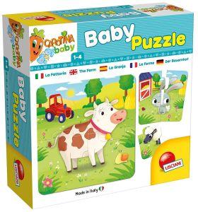 Lisciani baby - farma -  puzzle  8 x 4 dílky  65424