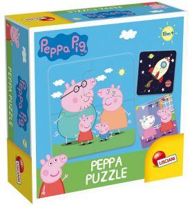 Lisciani baby - Prasátko Peppa -  puzzle  8 x 4 dílky  64915