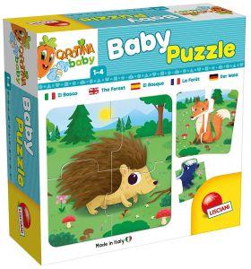 Lisciani baby - v lese   -  puzzle  8 x 4 dílky  65417