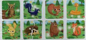 Lisciani baby - v lese - puzzle 8 x 4 dílky 65417 Lisciangiochi