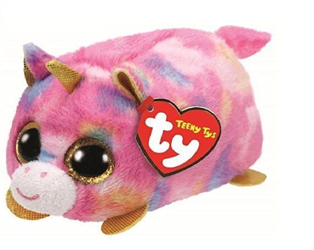 Plyšák TY - Teeny Ty´s - duhový jednorožec Star 10 cm TY Inc. ( Meteor )