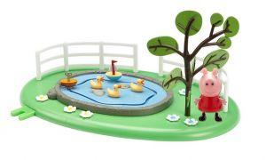 Prasátko peppa hřiště  - rybníček s kačenkami
