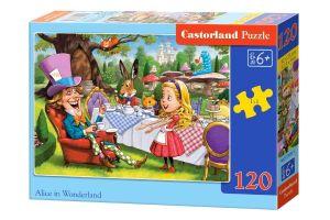 Puzzle Castorland 120 dílků - Alenka v říši divů    13456
