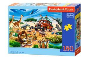 Puzzle Castorland 180 dílků - Safari dobrodružství   018390