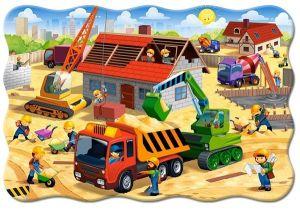 Puzzle Castorland 20 dílků podlahové - MAXI - Stavba domu  02412