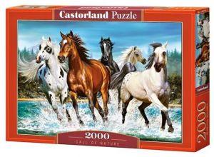 Puzzle Castorland 2000 dílků  Koně v pohybu ve vodě   200702