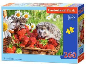 Puzzle Castorland 260 dílků - Jahodový dezert    27484
