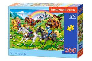 Puzzle Castorland 260 dílků - Princezny na koních    27507