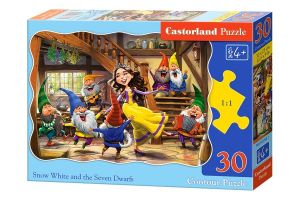Puzzle Castorland  30 dílků - Sněhurka a sedm  trpaslíků  03754