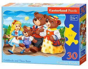Puzzle Castorland  30 dílků - Zlatovláska a tři medvědi     03716