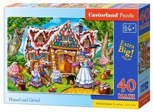 Puzzle Castorland 40 dílků MAXI - Jeníček a Mařenka  040285