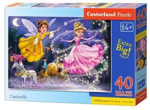 Puzzle Castorland 40 dílků MAXI - Popelka 040278