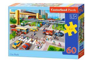 Puzzle Castorland 60 dílků - Rušná doprava ve městě    066131