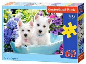 Puzzle Castorland 60 dílků - štěňátka Westie    066100