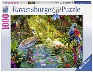 puzzle Ravensburger 1000 dílků   -  Ptačí ráj -  196739