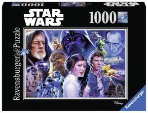 Puzzle Ravensburger 1000 dílků - Star Wars - koláž 1  197637