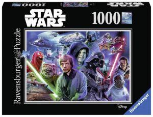 Puzzle Ravensburger 1000 dílků - Star Wars - koláž 3  197743