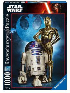 Puzzle Ravensburger 1000 dílků - SW -  R2-D2 a C-3PO  196821