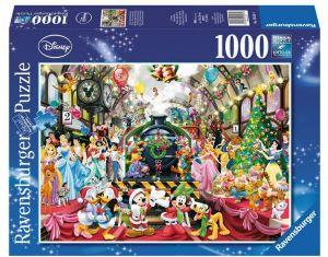 puzzle Ravensburger 1000 dílků - Vánoce v rodině Disney -  195534