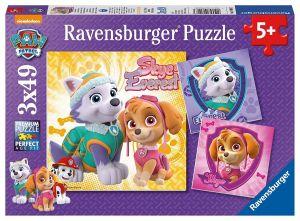 Puzzle Ravensburger  3 x 49 dílků  - Psí tlapková patrola   080083