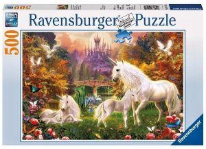 puzzle Ravensburger  500 dílků - Magičtí jednorožci   -  141951