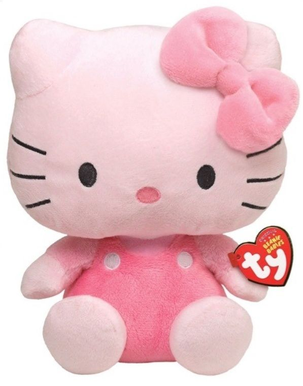 TY Beanie Babies - Hello Kitty - růžová 40894 - 15 cm plyšák TY Inc. ( Meteor )