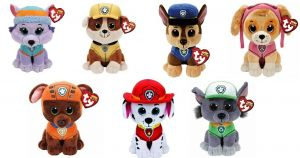 TY Beanie Babies - PAW PATROL Chase 24 cm - 96319 TY Inc. ( Meteor )
