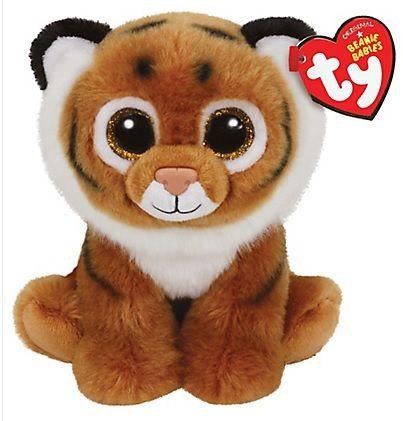 TY Beanie Babies - Tiggs - hnědý tygřík 42105 - 15 cm plyšák TY Inc. ( Meteor )