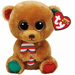 TY Beanie  - Bella - hnědý medvídek   37240   - 15 cm plyšák