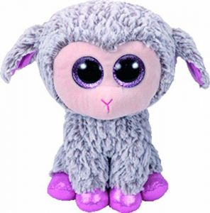 TY Beanie Boos - Dixie - šedá ovečka    37257- 24 cm plyšák