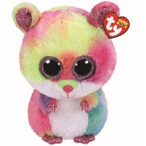 TY Beanie Boos - Rodney - duhový křeček   36416 - 24 cm plyšák