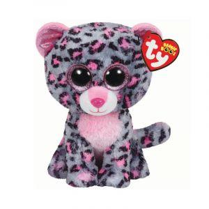 TY Beanie Boos - Tasha  XL - růžovo-šedý leopard   99996  - 62 cm plyšák