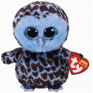 TY Beanie Boos - Yago - modrá sova   37267 - 24 cm plyšák