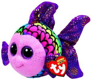 TY Beanie  - Flippy - duhová ryba  37242   - 15 cm plyšák