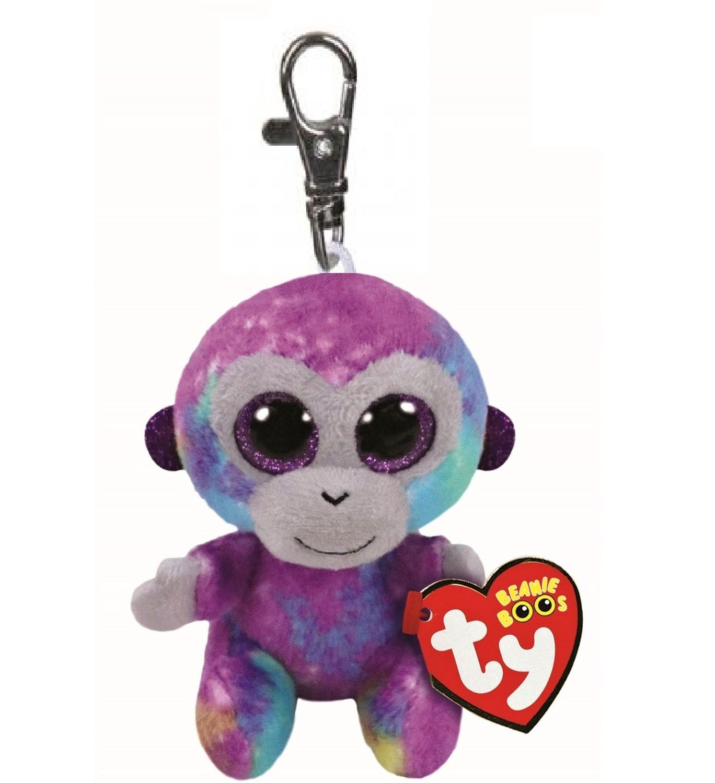 TY - Plyšový přívěšek - duhová opička Zuri s velkýma očima 8,5 cm TY Inc. ( Meteor )