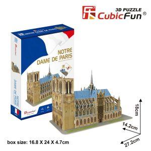 3 D Puzzle CubicFun - Katedrála  Notre Dame   53 dílků