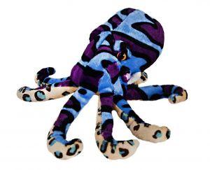 BEPPE - plyšová chobotnice 25  cm  - modrá  13373