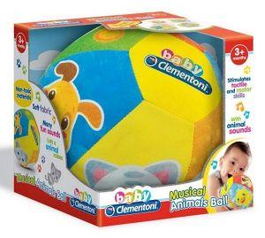 Clementoni Baby - muzikální míč - zvířátka  17109