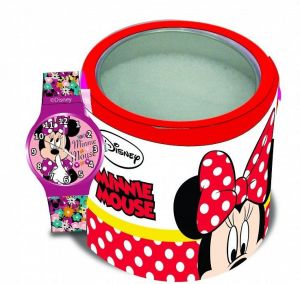 Dětské hodinky - analogové v plechovce  - Minnie Mouse