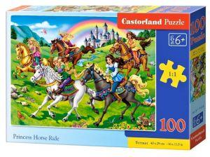 Puzzle Castorland 100 dílků premium  - Princezny na koních  111053