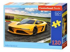 Puzzle Castorland 120 dílků - Žluté sportovní auto     13500
