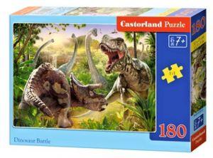 Puzzle Castorland 180 dílků - Bojující dinosauři  018413