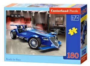 Puzzle Castorland 180 dílků - Modré závodní auto  018406