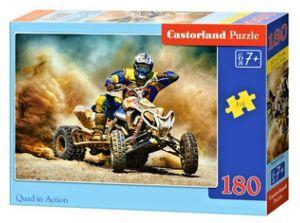 Puzzle Castorland 180 dílků - Na čtyřkolce v akci   018420