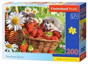 Puzzle Castorland 200 dílků premium  - Jahodový dezert 222025