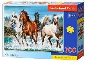 Puzzle Castorland 200 dílků premium  - Koně v pohybu ve vodě   222056