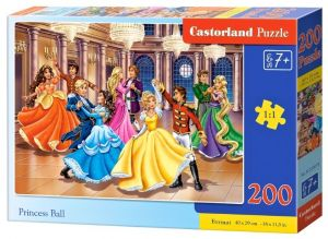 Puzzle Castorland 200 dílků premium  - Princezny na plese   222018