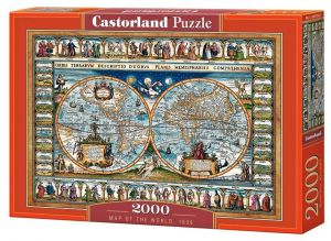 Puzzle Castorland 2000 dílků  Mapa světa z r. 1639   200733